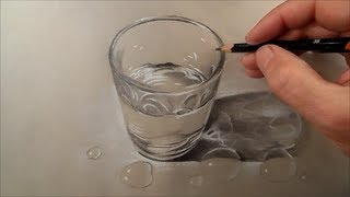 How to Draw Glass of Water, Time Lapse