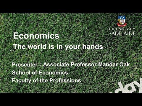 Economics Talk - Open Day 2014 - The University of Adelaide