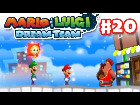 Mario & Luigi: Dream Team - Gameplay Walkthrough Part 20 - Big Massif Boss Fight (Nintendo 3DS)