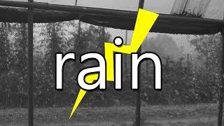 천둥 번개소리 - 폭우 호우주위보 비닐하우스 안에서 듣는 거센 빗소리 asmr
