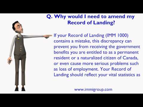 Why would I need to amend my Record of Landing?