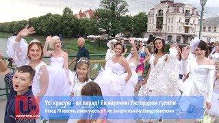 Усі красуні - на парад! Як наречені Ужгородом гуляли