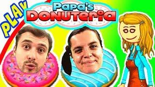 БолтушкА и ПРоХоДиМеЦ Готовят ПОНЧИКИ! #144 Игра для Детей - Папа Луи Пончики