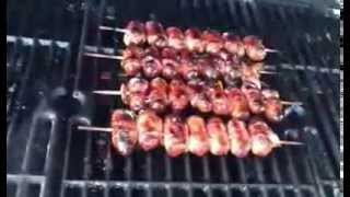 Bacon Wrapped Little Smokies With Super Bowl Grape Jelly Maple Syrup