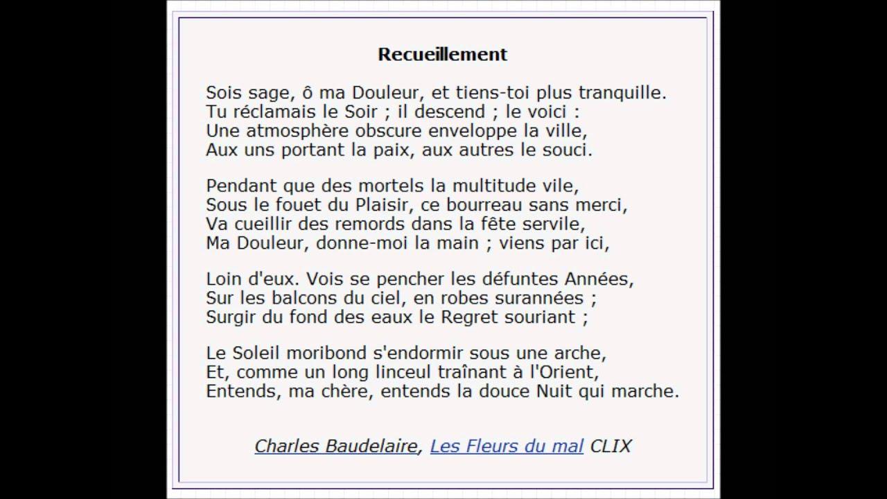 Recueillement De Baudelaire
