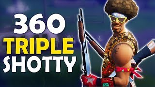 360 SHOTS | NO AR TRIPLE SHOTGUN | HIGH KILL FUNNY GAME - (Fortnite Battle Royale)