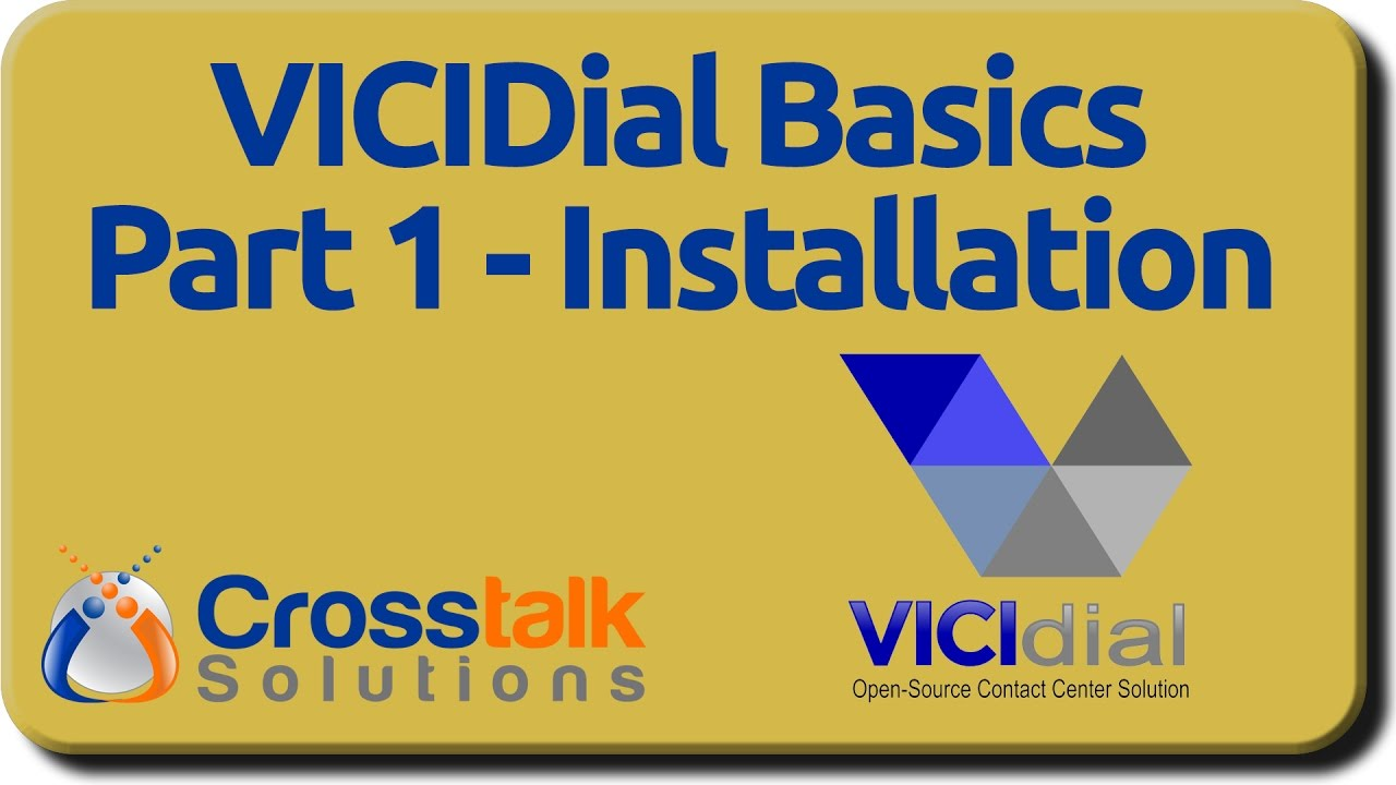 VICIDial Basics - Part 1 - Installation