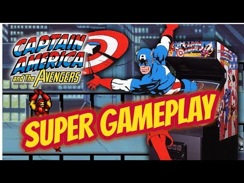 Captain America and the Avengers Arcade Game playthrough Retro Game 1991