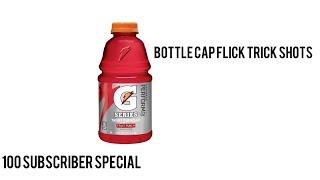 Bottle Cap Flick Trick Shots | LukeTheBaller