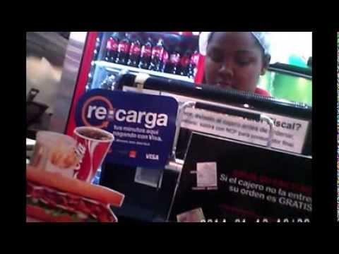 Entropay card rejected: Emparedado fast food.