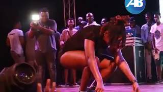 Ebony falls on stage while performing at PRESEC
