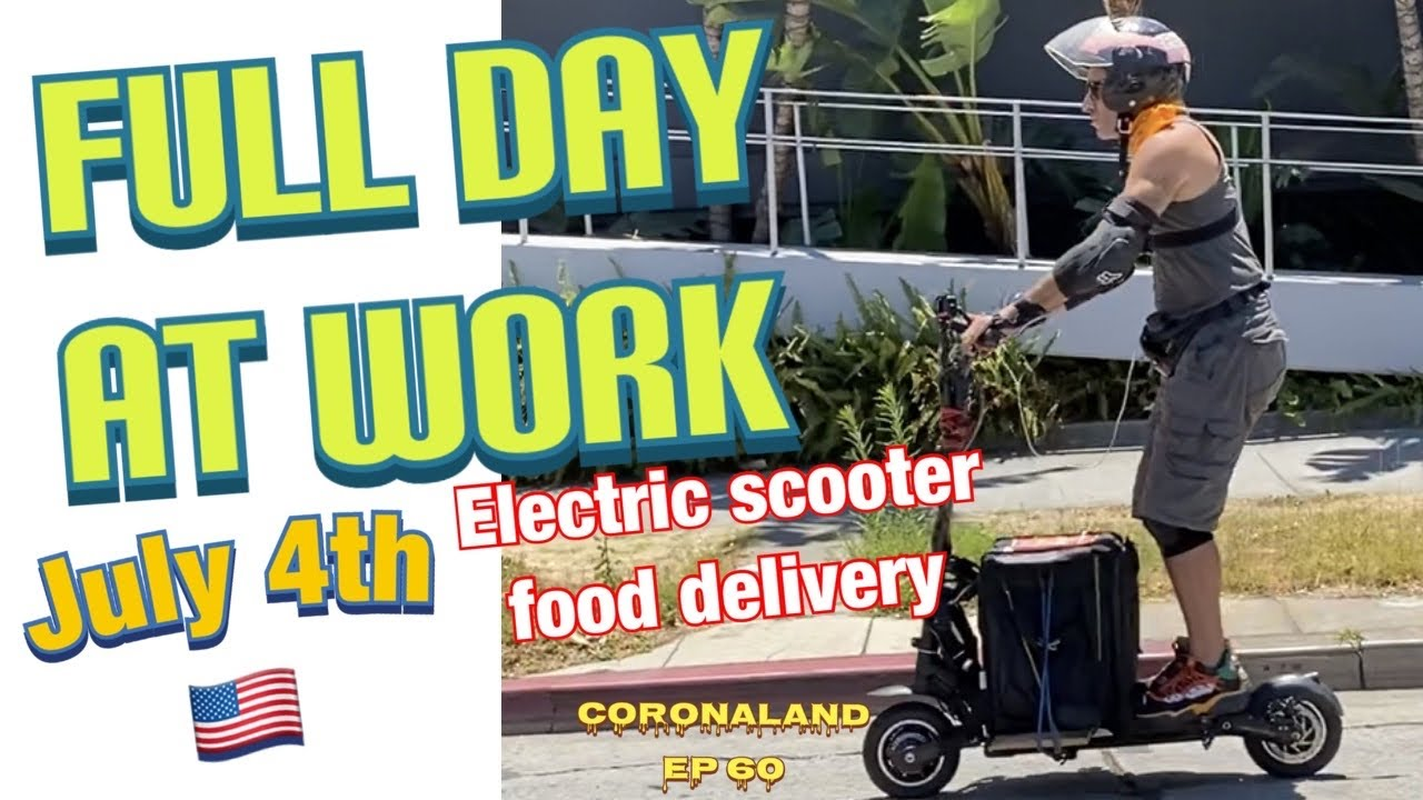 FULL DAY OF WORKING ELECTRIC SCOOTER DOORDASH FOOD DELIVERY