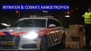 250 KG Vuurwerk aangetroffen tijdens grote controle. NITRATEN &. COBRA'S. POLITIE