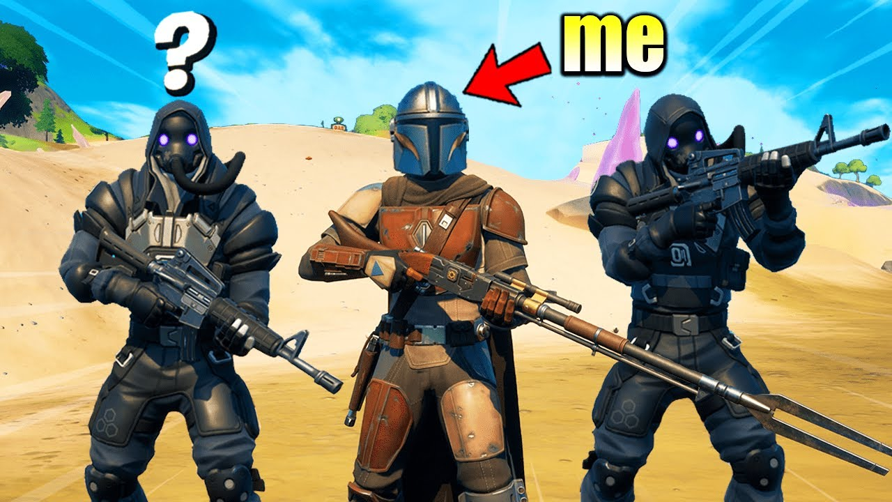 I Pretended to be MANDALORIAN in Fortnite