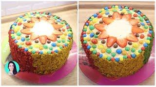 ПРОСТОЙ и ВКУСНЫЙ ТОРТ на день рождения. Радужный бархат ♥ Праздничное меню #20 ♥ Анастасия Латышева