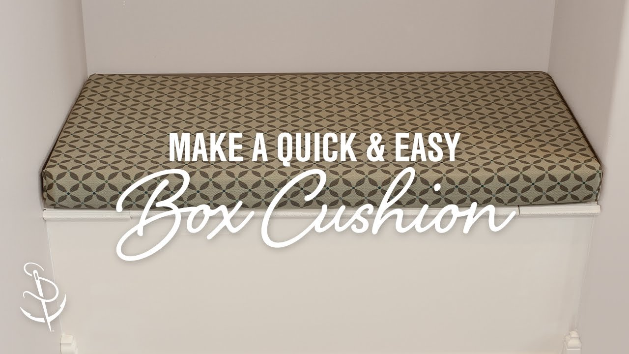 how to make a quick and easy box cushion youtube. Black Bedroom Furniture Sets. Home Design Ideas