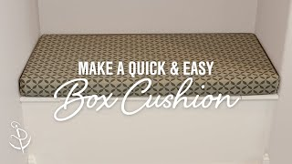 You can quickly and easily make box cushions following this DIY tutorial. There is no faster way to make a cushion cover and still get