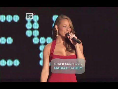 Mariah Carey accepts MTV Video Vanguard Award