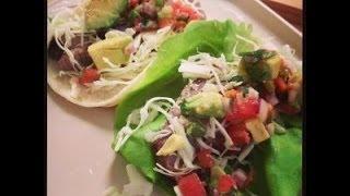 How To Make Easy Steak Tacos With Avocado Salsa - Paleo & Gluten Free!
