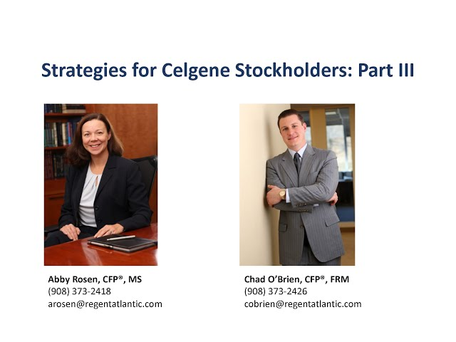 Your Celgene Stock - Hold, Sell, or Gift?