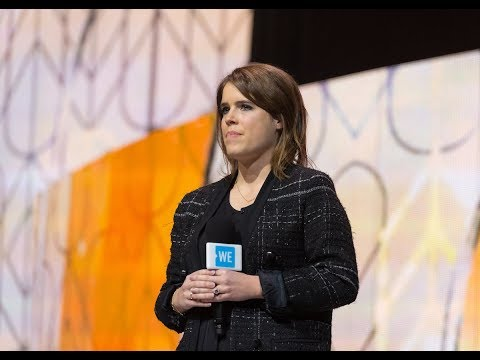 Princess Eugenie and Princess Beatrice speak at WE Day UK 2018