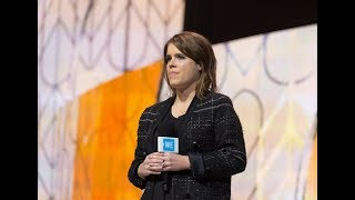 Princess Beatrice and Princess Eugenie speak at WE Day UK 2018