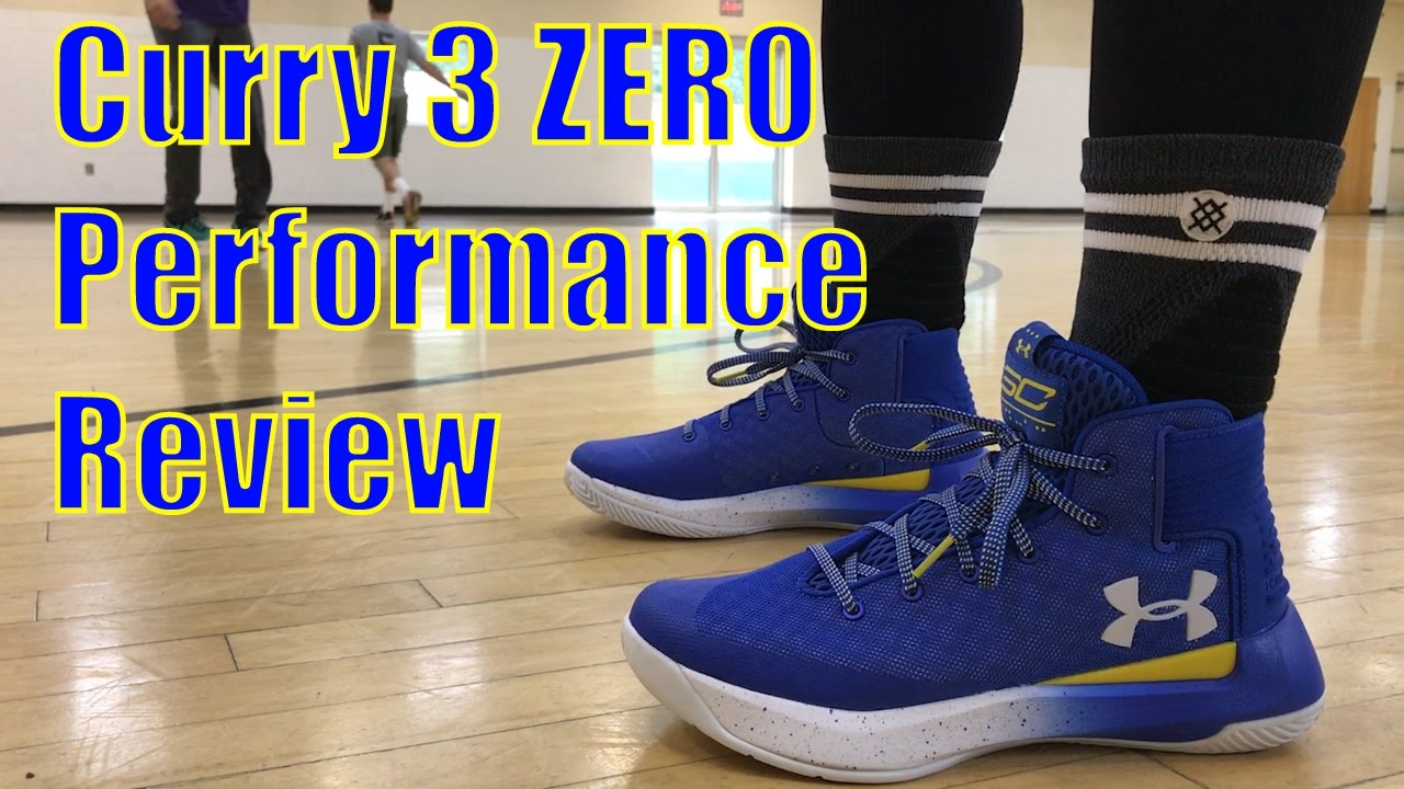 e2940ff172a Under Armour Curry 3 ZERO Performance Review - YouTube