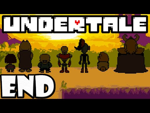 UNDERTALE Blind Gameplay Playthrough END True Pacifist, Surface Happy Ending, Monster Reunion Finale