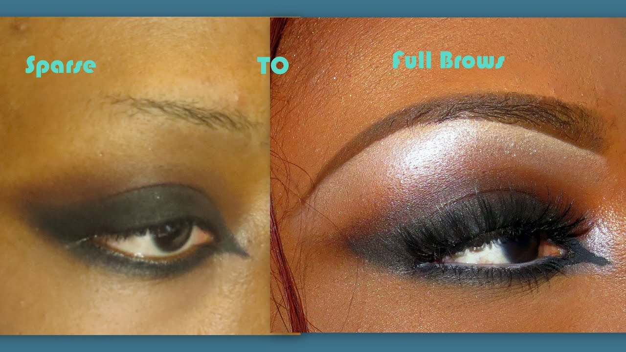 Eyebrow Tutorial For Thin Sparse Eye Brows Updated Youtube