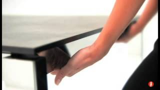 Cs4010-ml130 Calligaris Baron Metal Extendable Dining Table