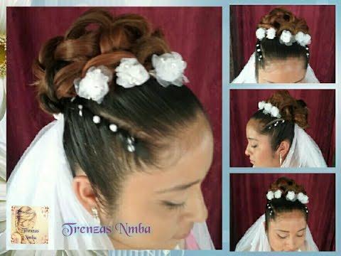 peinado para bodas xv aos primera comunin fcil y bonito trenzas nmba youtube