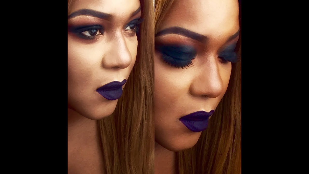 Grunge Fall Makeup Bold Lips Bold Eyes For Woc Youtube