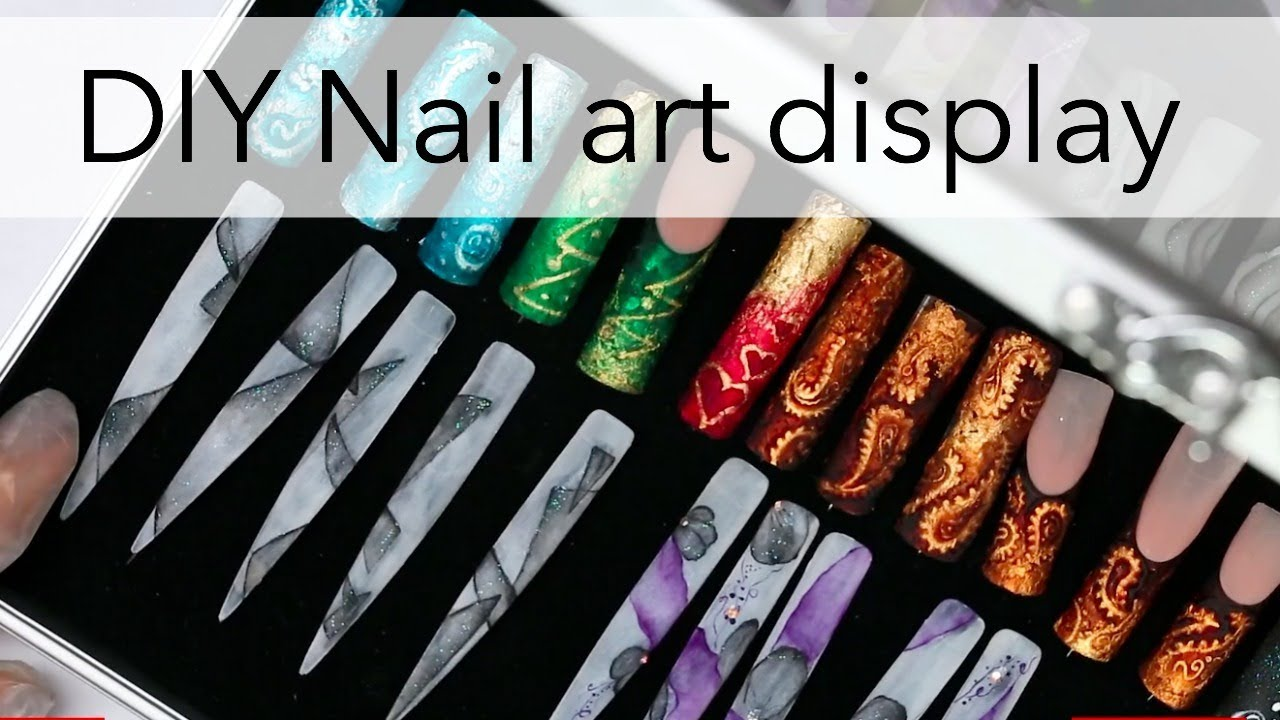 How To Display Your Nail Art Diy Idea For Tips With Designs Youtube