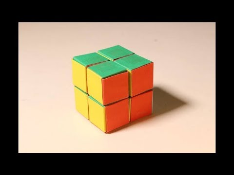 how to make rubiks cube with paper