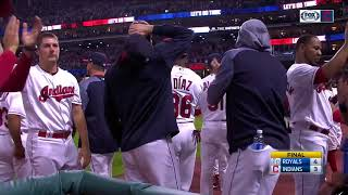 Win streak ends at 22: Indians tip their caps to the fans following first loss in 23 games