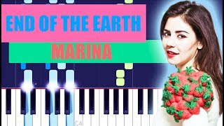 MARINA - End Of The Earth (Piano Tutorial) LOVE + FEAR