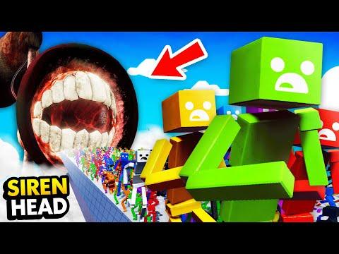 1,000,000 RAGDOLLS Vs HUGE SIREN HEAD (Fun With Ragdolls: The Game Funny Gameplay)