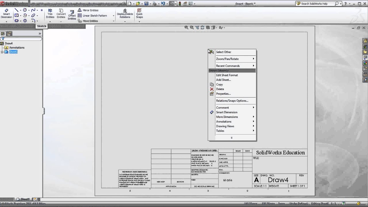 solidworks drawing template tutorial drawing template youtube
