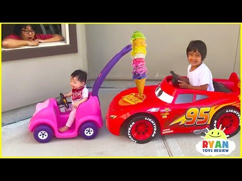 Ryans Drive Thru Pretend Play Restaurant on Kids Power Wheels!!!