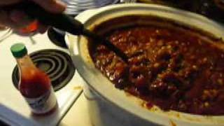 Chili for the football game