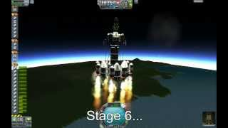 Kerbal Space Program 11-stage Mun Rocket & Lander