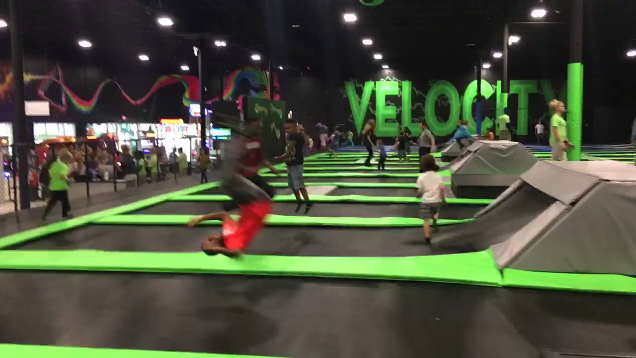 Jumping At The Largest Trampoline Park In Jacksonville Fl
