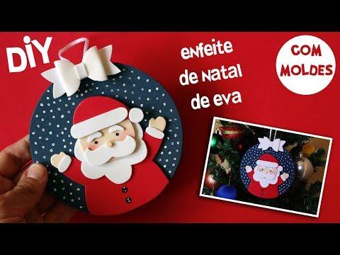 DIY: ENFEITE DE NATAL COM EVA E CD! ENFEITE PAPAI NOEL DE EVA NATAL . ESPECIAL DE NATAL 3