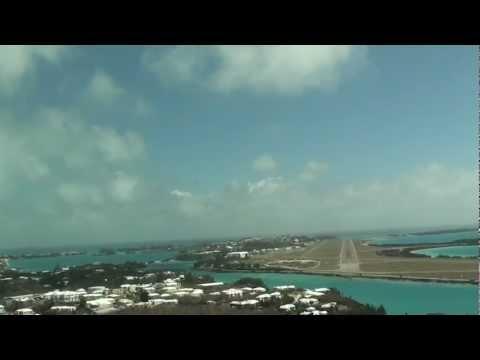 Pilotsview into Bermuda - Windy Landing!