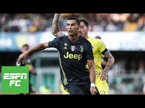 Cristiano Ronaldo Juventus debut vs. Chievo Full Highlights  ESPN FC