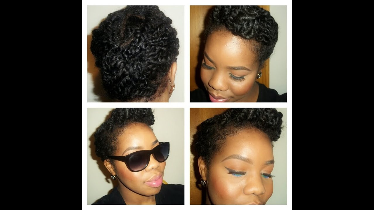 Natural hairstyle: roll, tuck and pin(with a twist)PROTECTIVE STYLE FOR TWO STRAND TWIST - YouTube
