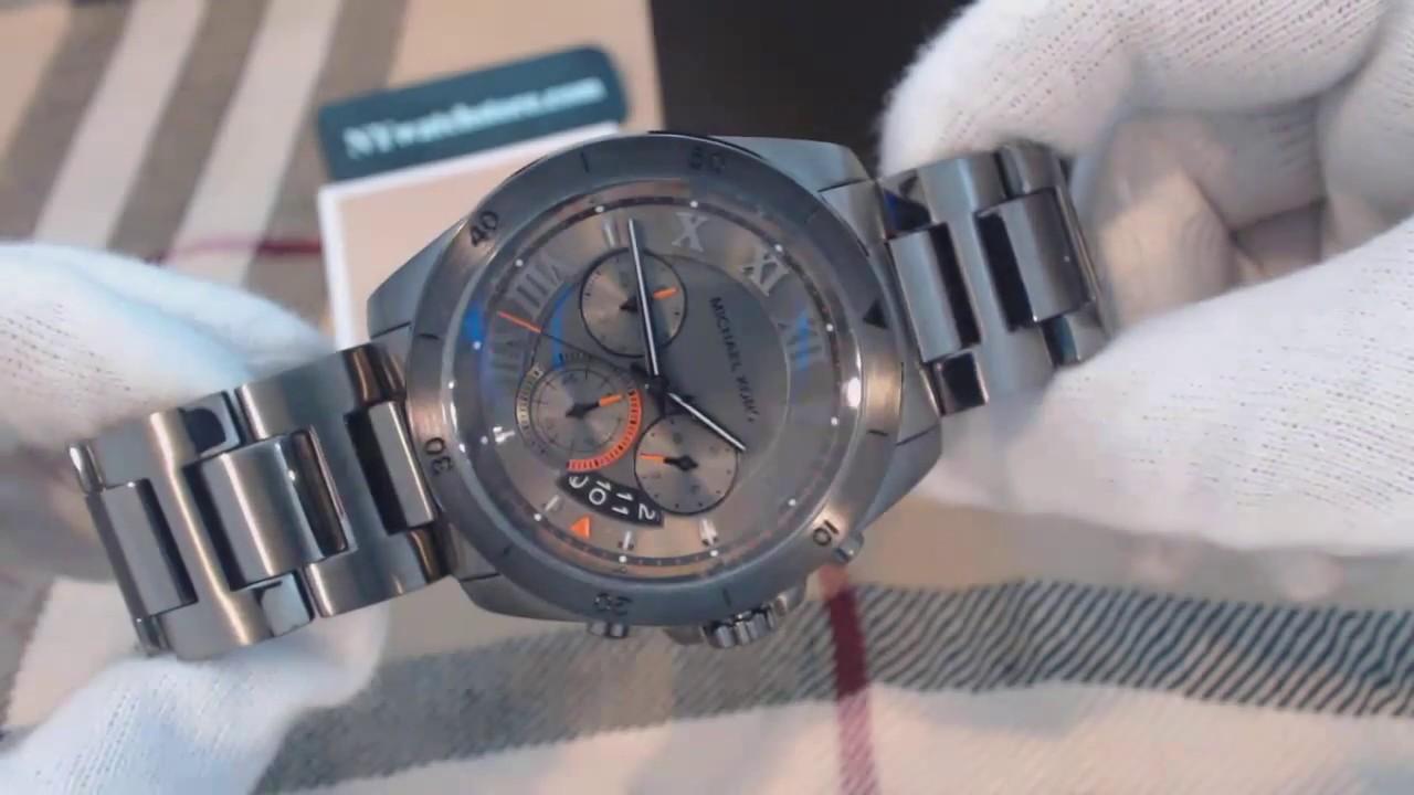 1c9cbc73e6b7 Men s Michael Kors Brecken Grey Chronograph Watch MK8465 - YouTube