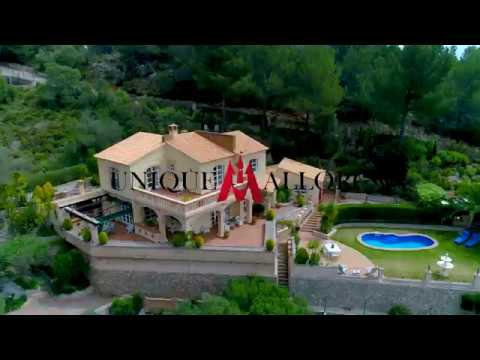Mediterranean style villa in Son Font : Luxury sea view properties in the Southwest of Mallorca