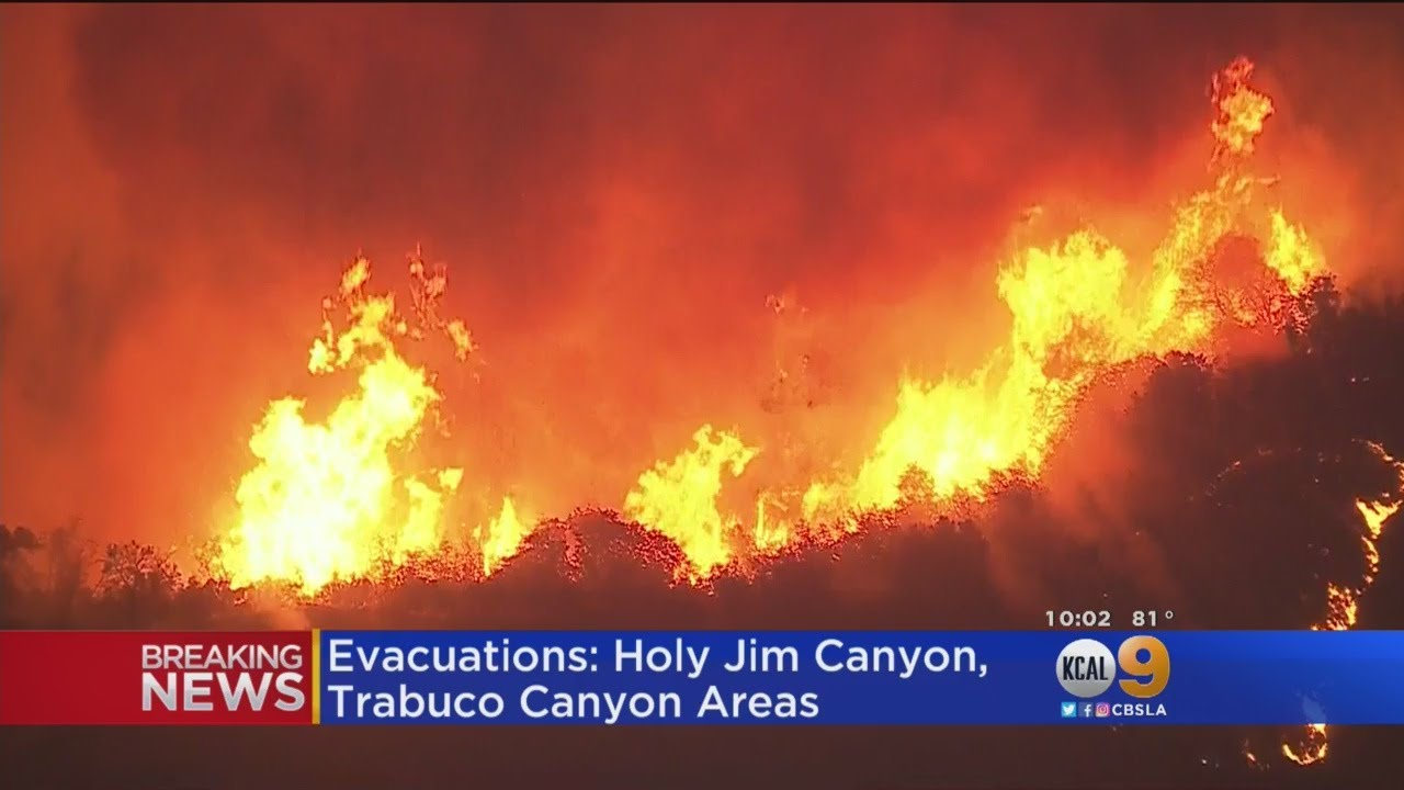 Holy Fire: Brush Fire Burns 4000 Acres In Cleveland National Forest; 2 ...