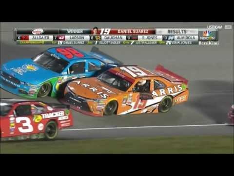 NASCAR Xfinity Series Homestead Miami 2016 Finish Suarez Champion